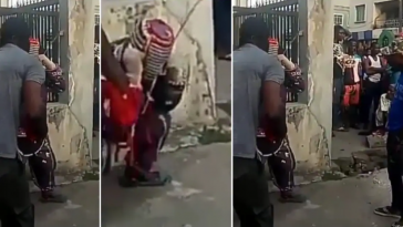 Drama As Soldiers Punish Masquerade Who Harassed Them For Money In Lagos [Video] 5
