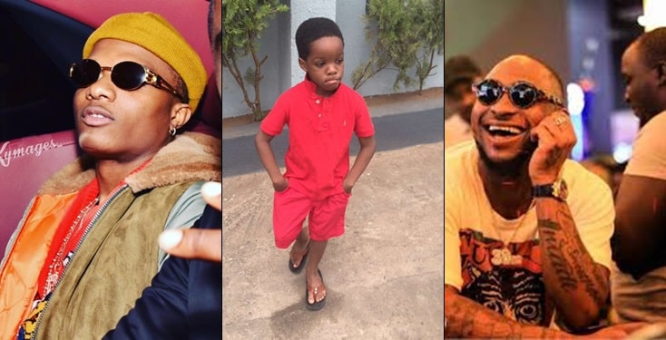 Wizkid's First Son, Boluwatife Names Davido As His Favourite Nigerian Artists [Video] 1