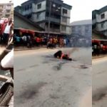 Mob Burns Suspected Robber Who Was Abandoned By His Colleagues During Operation In Aba [Photos] 15