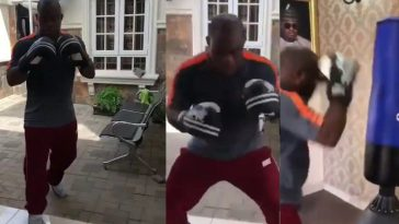 Kogi State Governor, Yahaya Bello Shows Off His Boxing Skills In New Video 6