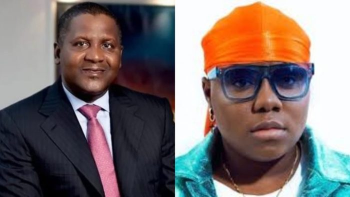 Dangote Laughs As Singer Teni Changes Her Name To 'Dangote' While Performing [Video] 1