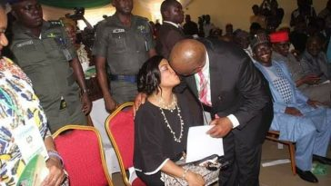 Governor Wike Kisses Wife At INEC Center After Receiving Certificate Of Return [Photos] 1