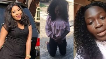 Actress Seyi Edun Tracks Down Lady Who Trolled Her On IG, Forced To Kneel & Apologize [Video] 1