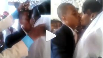 Viral Video Of Bride And Groom Forced To Kiss Each Other On Their Wedding Day 28