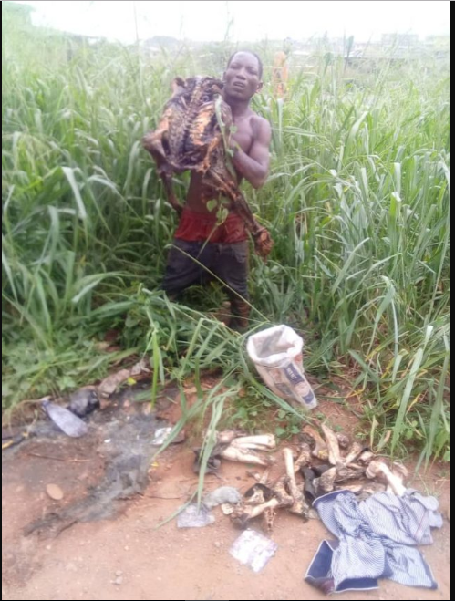 Man Caught With Human Skeleton While Trying To Dispose Dried Corpse Of The Man He Killed [Photos] 1
