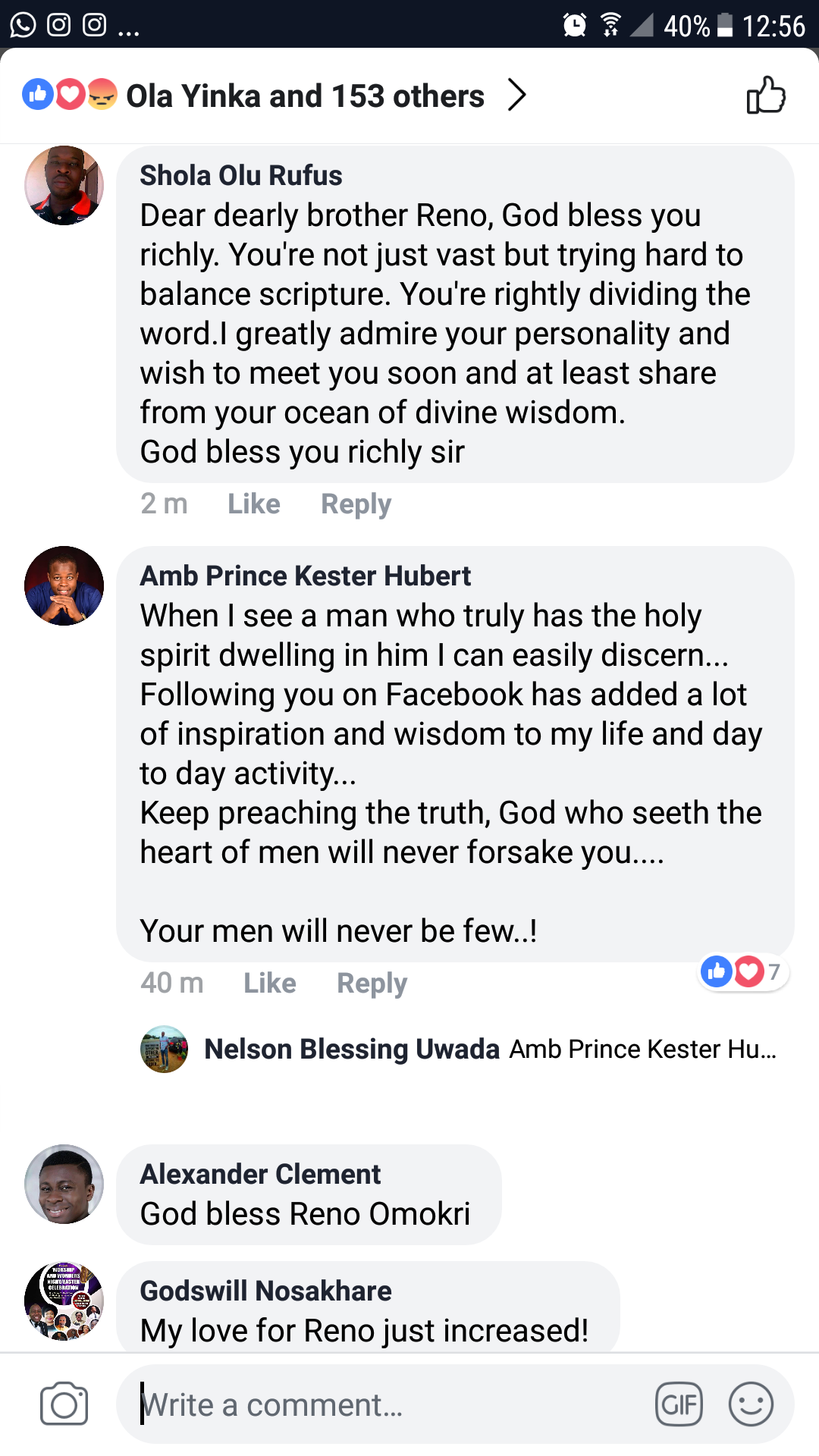Reno Omokri replies Daddy Freeze for calling out Apostle Suleman who reportedly bought a private jet. 7