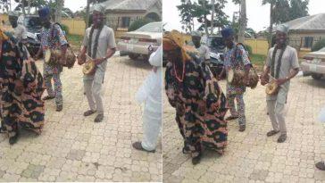 Watch Viral Video Of Obasanjo Dancing To Traditional Music In Ogun State 6