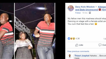 Man Ejaculates On His Trouser While Dancing With Big-sized Lady On Stage [Photos] 4