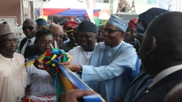 """Ambode Has Done Well"" - Buhari Says As He Unveils Nigeria's Biggest Maternity Hospital In Lagos 1"