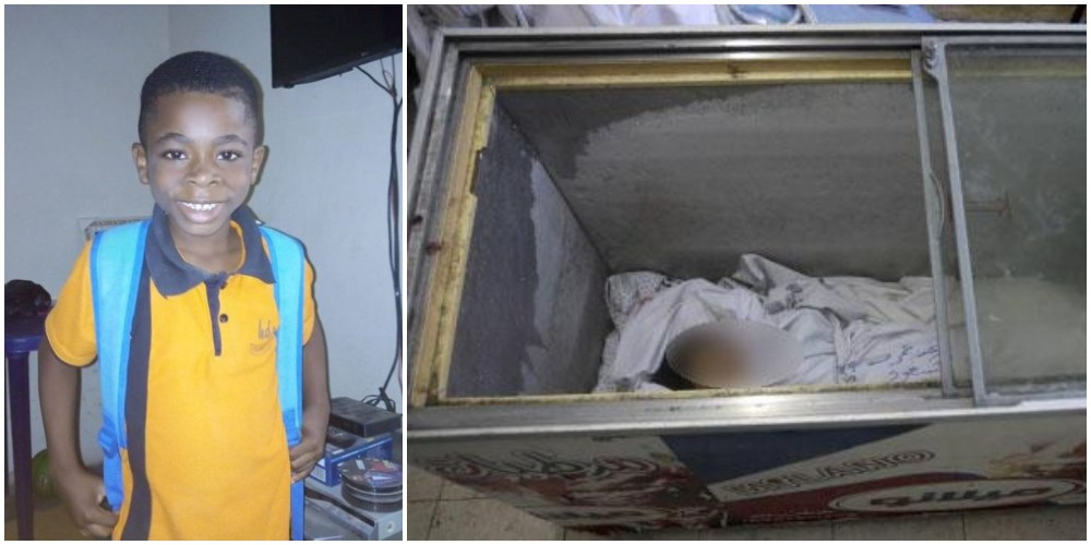 6 Year-Old-Boy Who Was Declared Missing, Found Dead In Woman's Freezer In Lagos [Photo] 1