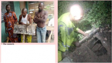 Three Men Caught Red-handed Stealing Human Parts From Church's Cemetry In Ogun State [Photos] 1