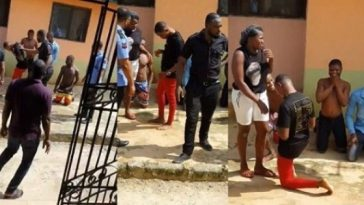 Lady Runs Away As Boyfriend Stages Fake Police Raid To Propose In Delta [Photos/Video] 6