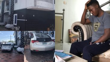 Popular Yahoo Boy 'Onoriode' Arrested By EFCC - See His Exotic Cars And Mansion [Photos] 1