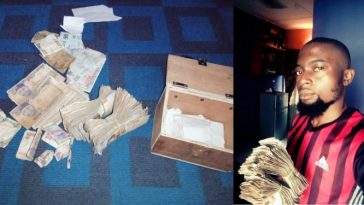 Nigerian Man Shows Off Huge Amount Of Money He Saved By Not Drinking For 124 Days [Photo] 2