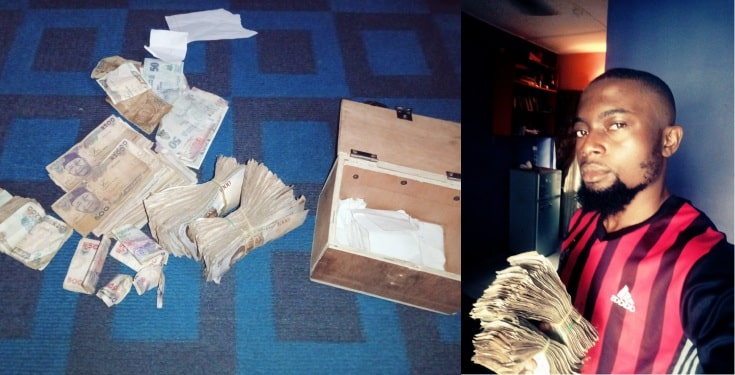 Nigerian Man Shows Off Huge Amount Of Money He Saved By Not Drinking For 124 Days [Photo] 1