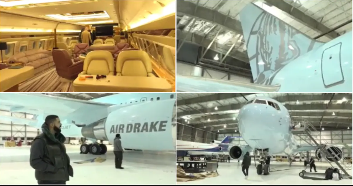 """No Rental, No Co-owners"" - Drake Says As He Shows Off His New Private Plane [Photos/Video] 1"