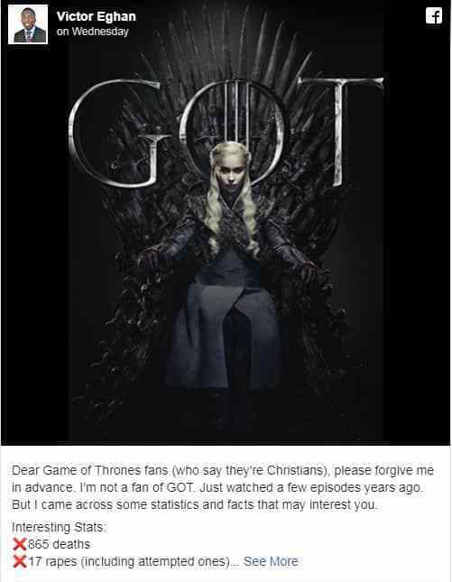 This Is Why Watching Game Of Thrones Makes You Potential 'Candidate For Hell' 2