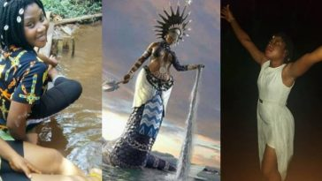 Nigerian Lady Who Claims To Be 'Ogbanje', Speaks Glowingly About Her Goddess 1