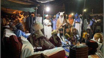 Ganduje Shuns Court Orders, Presents Staff Of Office To Emir Of Gaya At Night [Photos] 2