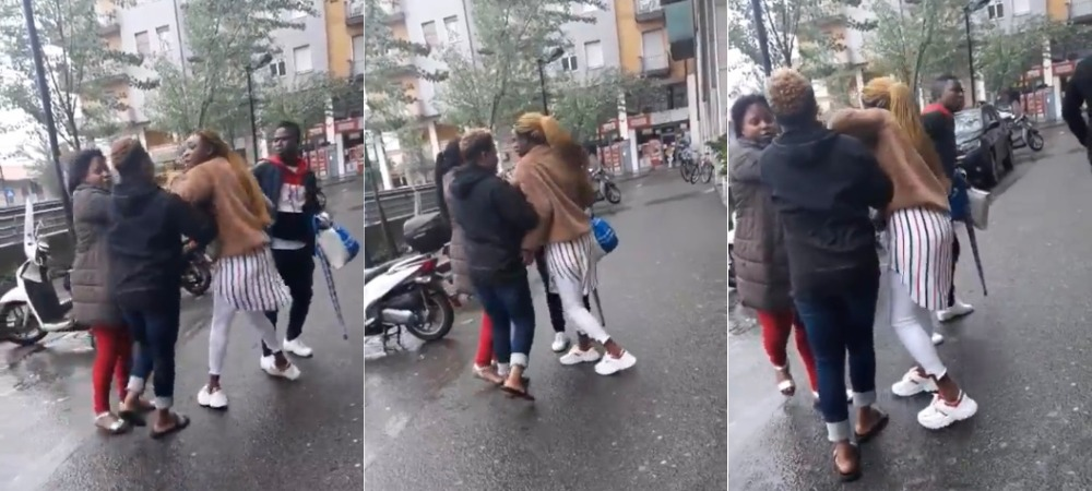 Nigerians Caught On Camera Fighting On The Streets Of Italy Over Stolen Shoes [Video] 1