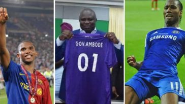 Drogba, Eto'o, Weah, Toure, Other Football Legends Storms Lagos For Ambode Testimonial Match 1