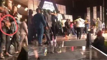Stonebwoy Pulls Out A Gun As Shatta Wale Attacks Him On Stage [Video] 1