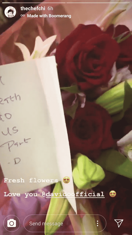Davido Sends Flower To Chioma, Says Only Death Can Separate Him From Her 2