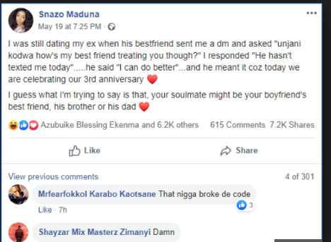 Young Lady Reveals What Made Her Dump Her Boyfriend For His Best Friend 2