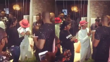 Wizkid And Tiwa Savage Seen Together At Patoranking's Album Listening Party [Video] 11