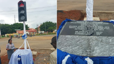 Nigerians Reacts As Cross River State Government Commissions 'One' Solar Traffic Light 8