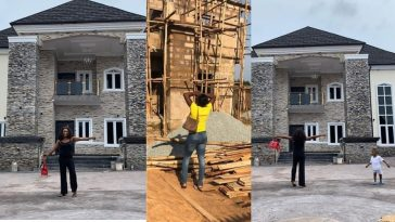 Lady Shows Off Her Newly Built Mansion After Being Chased Out From Husband's One Room Apartment 8yrs Ago 3
