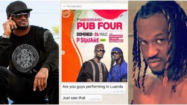 Peter Okoye Threatens To Sue His Twin Brother Paul For Promoting Show With His Photo 7
