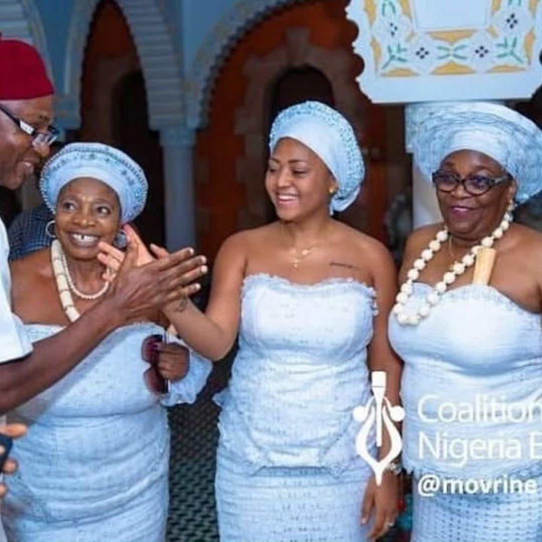 Regina Daniel's Mother Injures herself Few hours to daughters  traditional wedding 2
