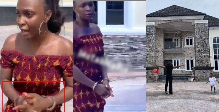 Blogger, Okoro Blessing Arrested By Owner Of House She Claimed To Have Built In Lagos [Video] 1