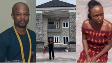 Okoro Blessing Shares Drink With Onye Eze After He Disgraced Her For Claiming His House [Video] 3