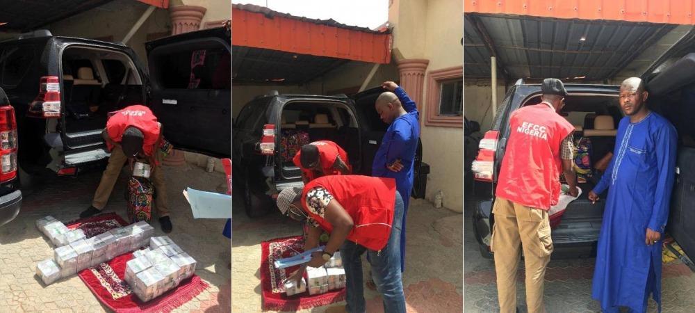 EFCC Arrests Brother Of Zamfara State SSG With N60 Million Cash Inside Car Boot [Photos] 1