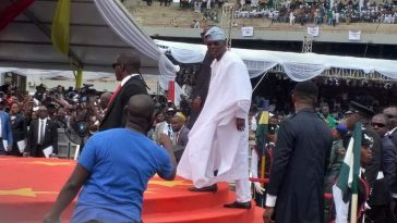 PHOTONEWS: Babajide Sanwoolu arrives for his Inauguration as the new governor of Lagos State 1