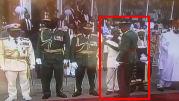 Oshiomhole Disgraced, Asked To Get Out Of Line At Buhari's Inauguration [Video] 4