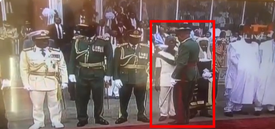 Oshiomhole Disgraced, Asked To Get Out Of Line At Buhari's Inauguration [Video] 1