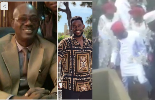 Adekunle Gold Spotted Paying Last Respect To His Father As He's Laid To Rest In Lagos [Video] 1