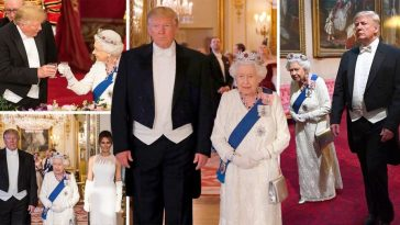 Queen Elizabeth Welcomes Donald Trump And Melania To Lavish State Banquet [Photos] 3