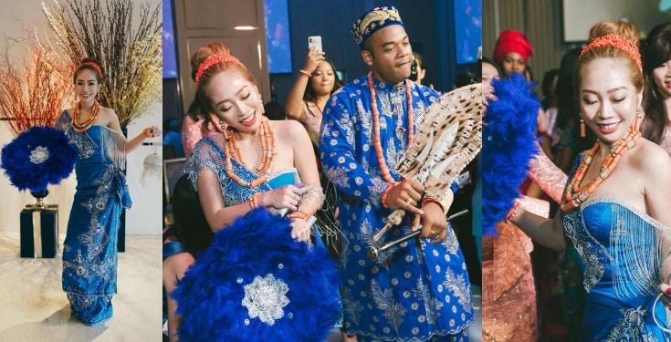 Nigerian Man And Taiwanese Girlfriend Holds Igbo Traditional Wedding Ceremony [Photos/Video] 1