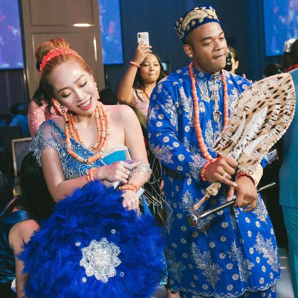 Nigerian Man And Taiwanese Girlfriend Holds Igbo Traditional Wedding Ceremony [Photos/Video] 2