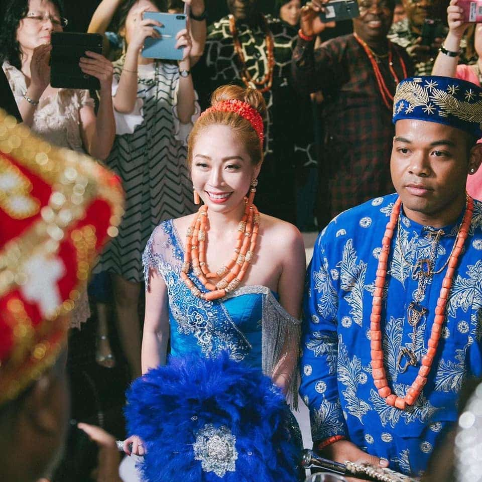 Nigerian Man And Taiwanese Girlfriend Holds Igbo Traditional Wedding Ceremony [Photos/Video] 9