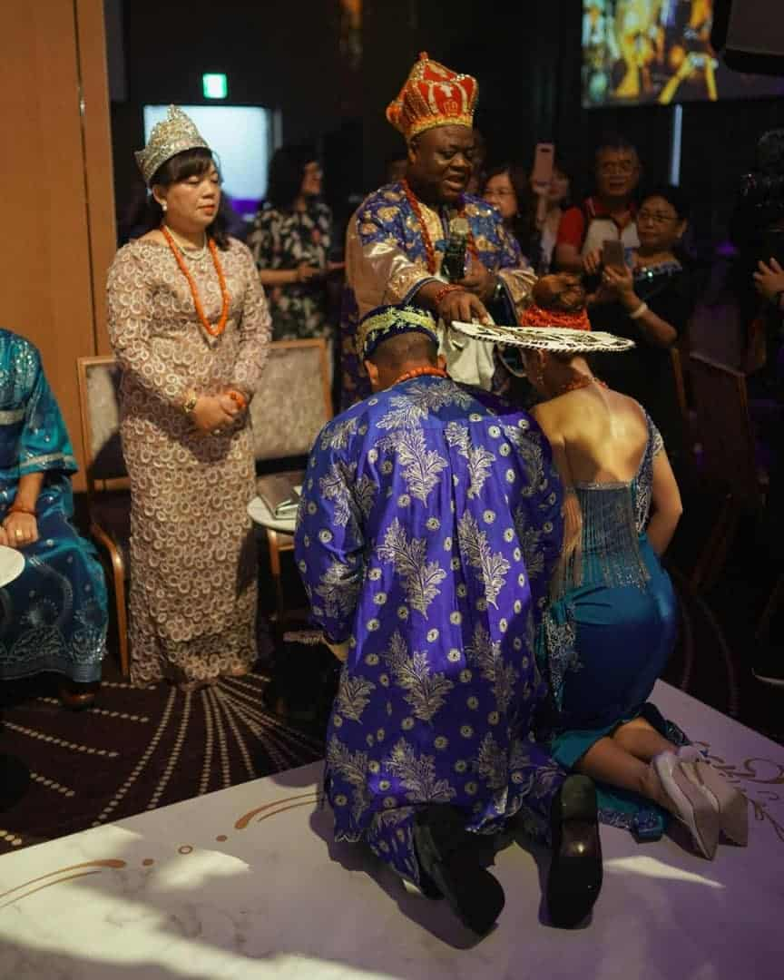Nigerian Man And Taiwanese Girlfriend Holds Igbo Traditional Wedding Ceremony [Photos/Video] 10