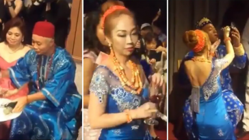 Nigerian Man And Taiwanese Girlfriend Holds Igbo Traditional Wedding Ceremony [Photos/Video] 9