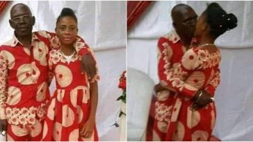 Photos Of An Elderly Man Kissing And Hugging His Young Bride At Traditional Wedding 11