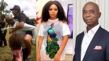 Ned Nwoko Spotted Carrying His Wife Regina Daniels On His Back While Hanging Out [Photo] 4