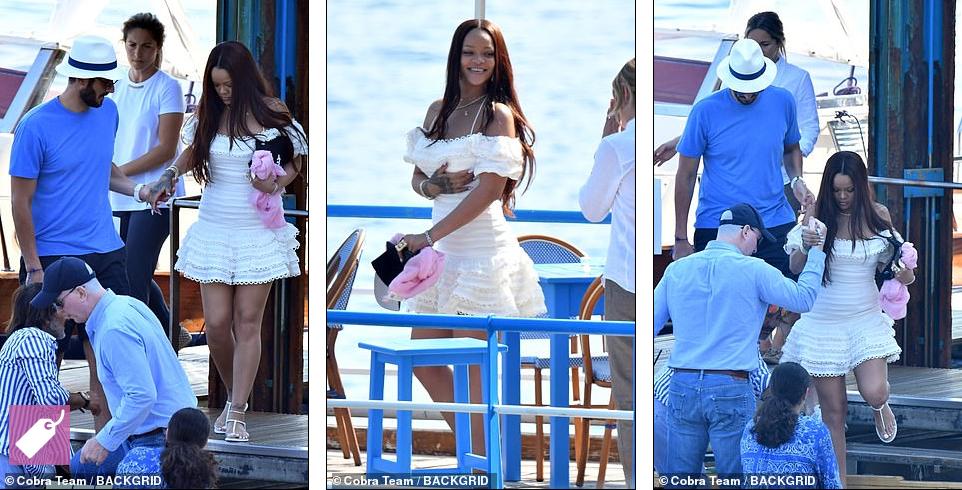 Rihanna Enjoys Romantic Boat Trip With Billionaire Boyfriend Hassan Jameel In Italy [Photos] 3