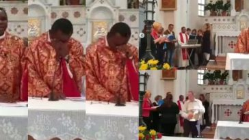 Nigerian Priest In Switzerland Breaks Down In Tears As His Parishioners Sang Him An Igbo Song [Video] 4